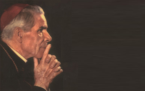 Fulton Sheen in prayer